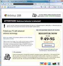 Scammers Use Microsoft and IRS Websites To Install Viruses On Computers – Antivirus 2009 And Other Spyware Programs