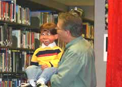 Jim Adams and Mikey Puppet
