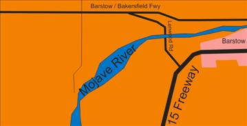 map of barstow and mojave river lenwood road crossing