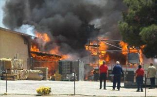 image of lucerne valley market fire