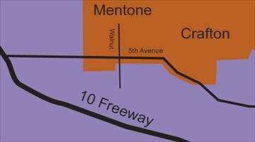 Map of Mentone California