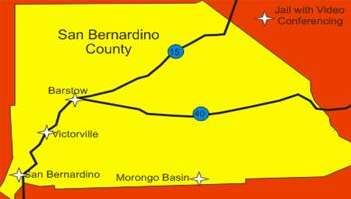 San Bernardino County Map