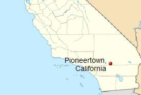 Map of Pioneertown CA