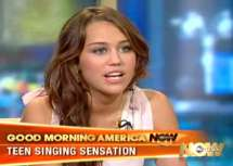 Miley Cyrus auctions of Stuff of eBay and her Interviews and Television Appearances
