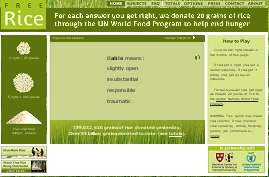 Earn Rice to Give to the Hungry by Playing a Free Educational Trivia Game Online