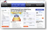 Southwest Airlines Airfare Sale – 72 hours to get $39 and other Discount AirlineTickets