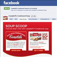 Campell Soup Scan Sweepstakes – Use the Stickybits Mobile Phone Bar Code Scan application to Win