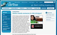 AirTran Airways Ride Shotgun with Danica Patrick Sweepstakes - Enter now through September 16th