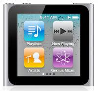 Apple iPod Nano Mp3 Player gets Smaller Redesign with Built in Clip