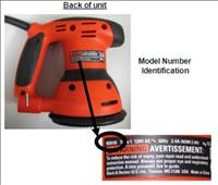 Orbital Sander Recall issued by Black and Decker