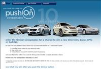 Win a new car from GM - Enter sweepstakes by pushing the OnStar button