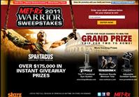 Met-Rx promoting 2011 Warriors Sweepstakes enter to Win a Trip to Rome