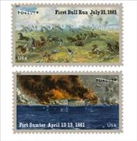 Civil War Stamp collection introduced by the US Postal Service today