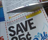 grocery coupon clipping