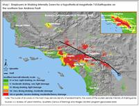 Employers in Shaking Intensity Zones for a hypothetical magnitude 7.8 Earthquake on<br /> the southern San Andreas Fault - BLS.gov