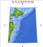 Japan 7.0 Magnitude Earthquake map 07/09/2011 - USGS.gov