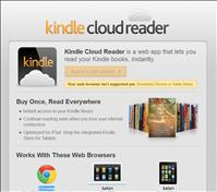 screenshot Amazon makes Kindle Cloud Reader available