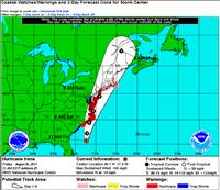 Hurricane Irene Map 3-Day Forecast - National Weather Service