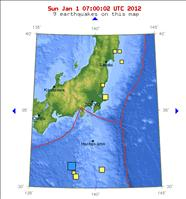 January 1, 2012 Japan 6.8 magnitude earthquake map - USGS.gov