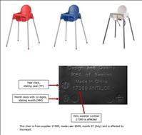 IKEA high chair recall seat buckle repair needed - CPSC.gov