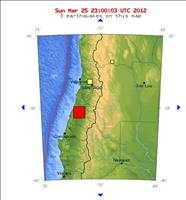 Chile Earthquake Map March, 25, 2012 - USGS