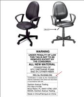 Office Depot Black Leather Office Chair Recall - CPSC