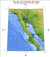 Baja California, Mexico Earthquake Map April 12, 2012 - USGS.gov