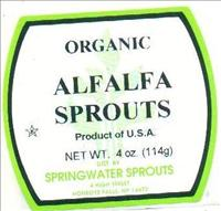 Alfalfa Sprout label involved in the recall - FDA
