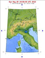 Italy Earthquake map - credit: USGS