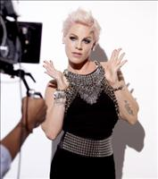 P!nk takes on a rocking new role with COVERGIRL cosmetics. Grammy Award winning singer poses behind the scenes at her first print ad shoot for the brand. (Photo: Business Wire)