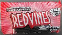 Red Vines Black Licorice Twists candy - CDPH