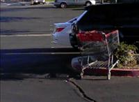 Shopping cart in parking lot - BSN