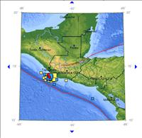 Recent Guatemala Earthquake Activity Map Nov. 11, 2012 - Credit: USGS