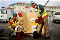 LEGOLAND® California Resort's Master Model Builders prepare a LEGO knight and chef for installation into the nation's first LEGOLAND Hotel opening ahead of schedule on April 5, 2013. credit:LEGOLAND / PRNEWSWIRE