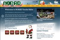 screenshot of Noradsanta.org