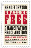 Emancipation Proclamation 150th anniversary Stamp - credit: USPS